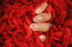 rouge (Vina the Great) Tags: red rouge cloth hand