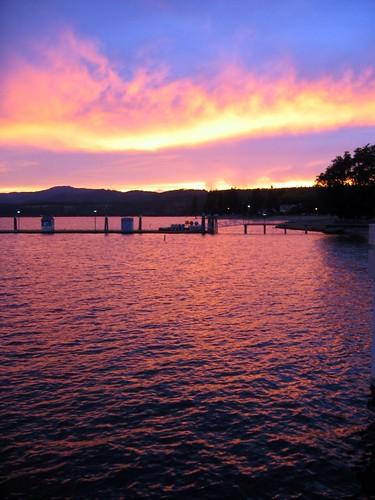 Couer D'Alene Sunset