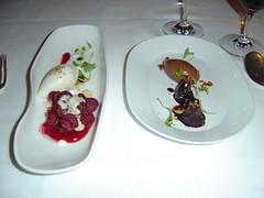 Dessert @ Charlie Trotter's (yehwan) Tags: food usa chicago dessert illinois figs anisehyssop charlietrotters grandmenu michiganraspberries rawvanillabeanicecream