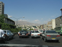 Bumper to bumper traffic in Tehran (Kashkali) Tags: iran tehran modarres