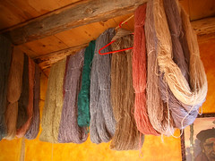 IMGP3430 (hardworkinghippy) Tags: dyed hanks drying 2004 dying mud room