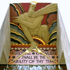 Stability of thy Times (_MaO_) Tags: 2005 nyc morning summer sculpture usa ny newyork june architecture buildings square gold nikon skyscrapers manhattan 5thavenue rockefellercenter midtown zeus crop coolpix cropped artdeco summertime s1 nikons1 fifthavenue rockefeller deco squared quadrato coolpixs1 ritagliata