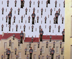 For 'My Very Own Clone' group (Mr Bultitude) Tags: building photoshop wow gutentag paste magritte double multiple clone quadruple triple multiply mrbultitude myveryownclone neilcarey
