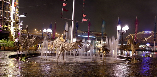 Crane Fountain by alumroot