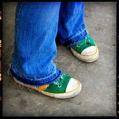 Waiting Girl (Dave Ward Photography) Tags: unfound blue border bus busstop cement feet frame girl green jeans lomo pavement shoes legs pose wait waiting whatcom davewardsmaragd 2005 bellingham themeintenseblue washington wa us unitedstates usa