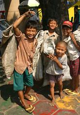 little scavengers, Yangon (kinginexile) Tags: life kids portraits children asia burma smiles streetlife myanmar yangoon itsongmirrorssoutheastasia