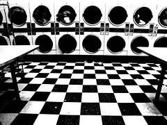 Weekly Drag (aqui-ali) Tags: sanfrancisco california ca bw usa topf25 table topf50 topf75 quality interior fv5 laundry missiondistrict washingmachine laundromat topf100 checker topf200 pph top20favview tccomp043 hawktalk gap0910 aquiali:a=1