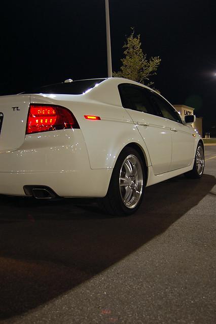 automobile car acura tl 2005 white