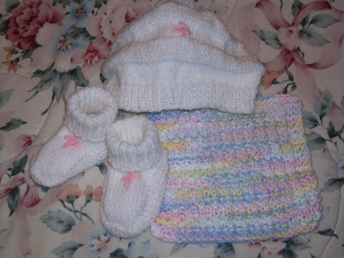 White Knit Baby Set