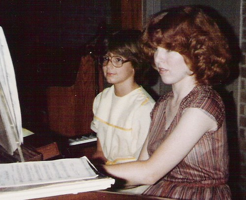 A Younger Me at the Organ Keyboard