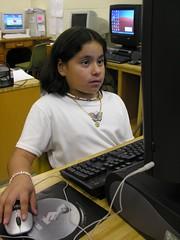 Reading Skills in the Computer Lab (Old Shoe Woman) Tags: usa georgia southgeorgia dilosep05 school students computerlab computers reading dilosept05