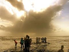 Evening and the Sea (lecercle) Tags: bandra bombay mumbai india arabiansea