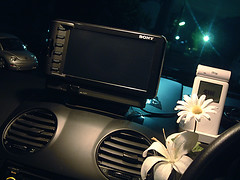 Car Navigation System and iPod (cheltenham) Tags: new flower car volkswagen ipod sony beetle vase navigation itrip xyz77 ipodincar