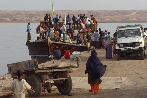 Djibouti-Obock ferry arriving