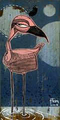 one of 50 flamingos (Dennis Hayes IV) Tags: 7teen painting illustration art flamingo bird pink swamp