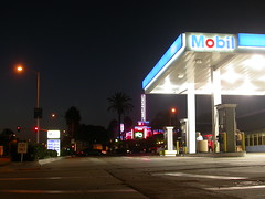 Mobil Station, San Diego (So Cal Metro) Tags: sandiego mobil gasstation gas gasoline night