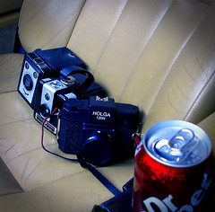kids_for_a_ride (Luke H) Tags: 9302005 nevada country drive holga 120n kodak brownie hawkeye flash ferrania box camera dr pepper volvo 960 station wagon