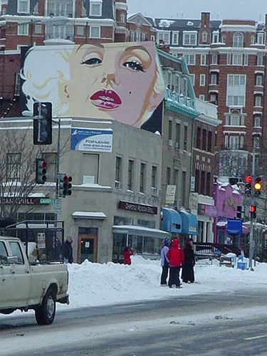 Marilyn Looks Down on a Snowy Connecticut Ave.