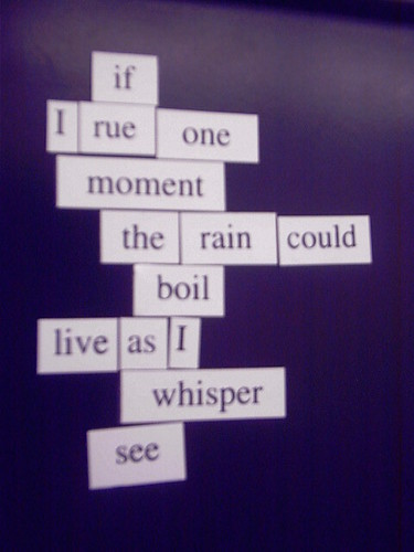 Magnetic Poetry #1