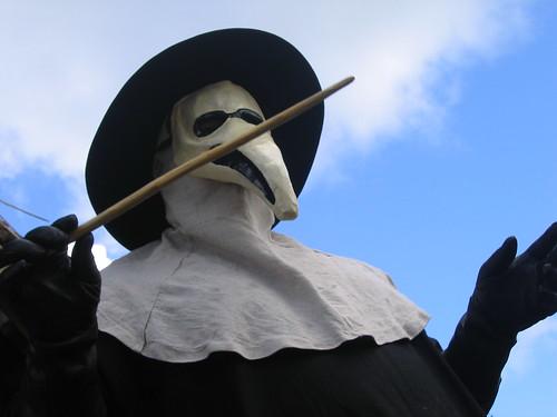 bubonic plague doctor. ubonic plague (builenpest)
