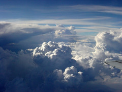 cloudscape (earthsound) Tags: trip travel blue light sky weather clouds plane airplane iso100 shadows sony wing atmosphere cybershot heavens cloudscape sonycybershot chasing wingtip windowseat f9 cloudchasing dscp9 0ev 178mm hpexif 0001sec