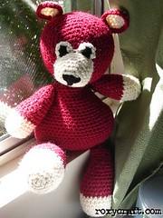 large red bear (Roxycraft) Tags: amigurumi toys plush softies mos october 2005 handmade stuffed plushies crochet yarn stuffedanimals toy
