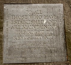 Plague 2 (janet7r) Tags: conscientious objectors memorial tavistock square london plaque stone slate carving