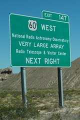 Very Large Array Road Sign (Marshall Astor - Food Fetishist) Tags: verylargearrayvlanraonational radio astronomy observatoryradio telescope science 60west 60 roadsign sign roadtrip vacation radioastronomy observatory radiotelescope