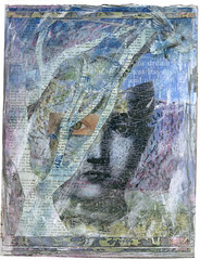 Lost in Thought (Kelly Angard) Tags: collage mixedmedia illustrationfriday kellya mixedmediaart kellyangard thecraftygirl kellyafineartphotography