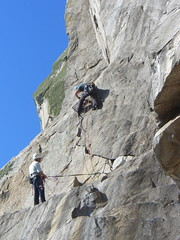 climbers close up (squeezemonkey) Tags: lundy island climbers