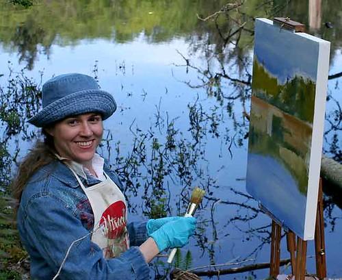 Pintando un paisaje