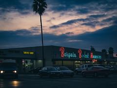 Bargain Basket Markets alas no more (JM L) Tags: light urban sign night neon market supermarket liquor 1950s signage orangecounty placentia 1s22s22p6 chapman bargainbasket