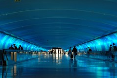 Flickr Famous: Tunnel Of Light (LarimdaME) Tags: airport detroit tunnel dtw tunneloflight flickrfamous moomaybe