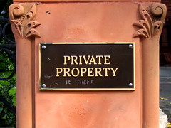Private property is theft