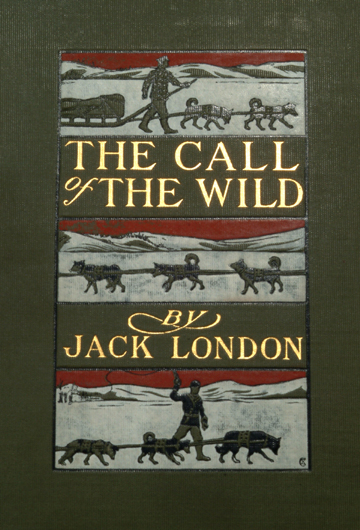 Call of the wild by Jack London, book cover.
