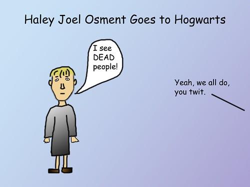 Haley Joel Osment Goes to Hogwarts