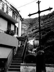 ascend (Navelless) Tags: bigcalm cross stairs climb manohla cinque terre italy buildings village catholic manhola ascend