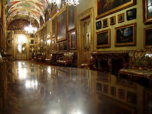 reflecting table, galleria doria pamphilj