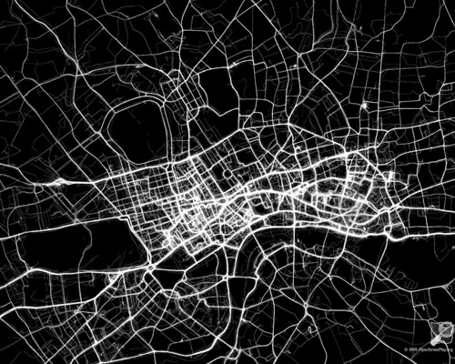 Map of London GPS-Tracking by photo808.