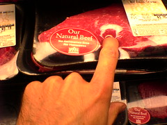 squishing meat  (DSC03336) (indieink) Tags: flesh hand finger beef meat misha bittleston squish press pointing touching fingering pressing sensation redmeat allnatural squishing stoking