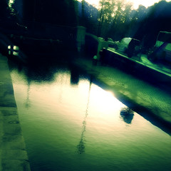 Reflections on canal - green (David Maury) Tags: ireland urban dublin sunlight reflection green architecture canal fantastic magic dream mysterious extraordinairy interestingness94 i500 davidmauryphotography