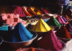 Colors (idogu) Tags: world travel pink blue red people india color green yellow 1025fav volcano asia colours market topv444 culture powder 2550fav cons mysore encounter travelphotography xxxxx tikapowder 100fav 123fav 1show websetfavorite selectshow