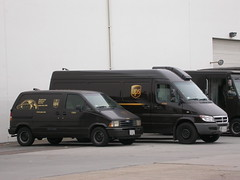 UPS Vans (So Cal Metro) Tags: sandiego ford aerostar dodge sprinter van minivan ups brown delivery parcel