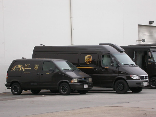 sandiego ford aerostar dodge sprinter van minivan ups brown delivery parcel