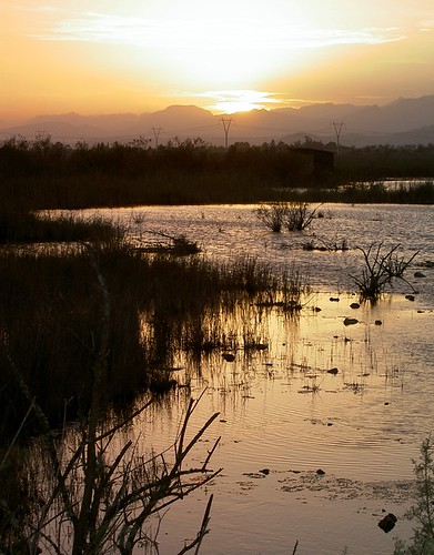 Sunset, s'Albufera salt marshes