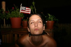 Jen (frankie two thumbs) Tags: girl night interestingness kiss flag flash 4th july baltimore explore american 4thofjuly