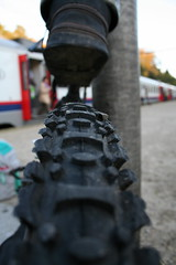 tyreless commuter (igilmour) Tags: deleteme5 brussels deleteme8 deleteme deleteme2 deleteme3 deleteme4 deleteme6 deleteme9 deleteme7 train belgium deleteme10 platform tire rubber tread tyres commuters tyre lahulpe mountianbike nobbly 271005