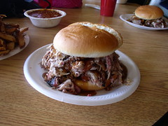 Perry Fosters BBQ (bill.streeter) Tags: pork bbq sandwich food perryfosters warrensburg mo colesterol meat fat yum