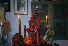 lights2 (Gotham City Lost And Found) Tags: halloween decorations fall skeleton witch ghost pumpkin jackolantern fear boo haunted blackcat scare fright