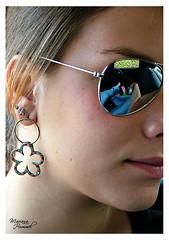 She. (mari.hummel) Tags: carol carolina girl face woman garota menina sister irm mulher rosto portrait sunglasses brilliant